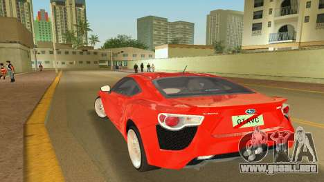 Subaru BRZ Type 2 para GTA Vice City left