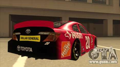 Toyota Camry NASCAR No. 20 Husky para la visión correcta GTA San Andreas