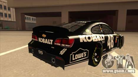 Chevrolet SS NASCAR No. 48 Kobalt Tools para la visión correcta GTA San Andreas