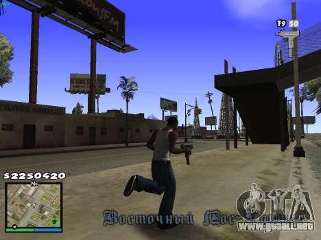 MFGTAFH V.1.1 para GTA San Andreas segunda pantalla