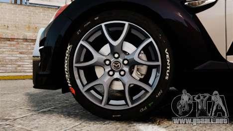 Mazda RX-8 R3 2011 Police para GTA 4 vista hacia atrás