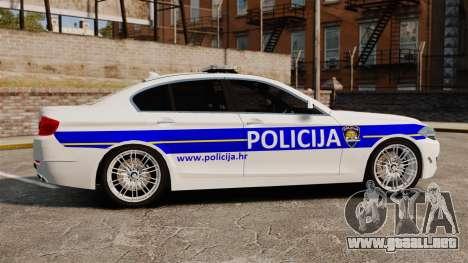BMW M5 Croatian Police [ELS] para GTA 4 left