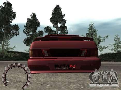 BPAN VAZ 2115 para GTA San Andreas vista hacia atrás