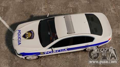 BMW M5 Croatian Police [ELS] para GTA 4 visión correcta