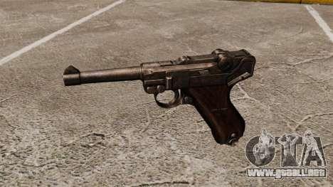 Pistola Parabellum v1 para GTA 4 tercera pantalla