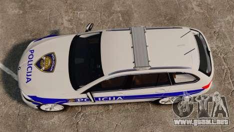 BMW M5 Touring Croatian Police [ELS] para GTA 4 visión correcta