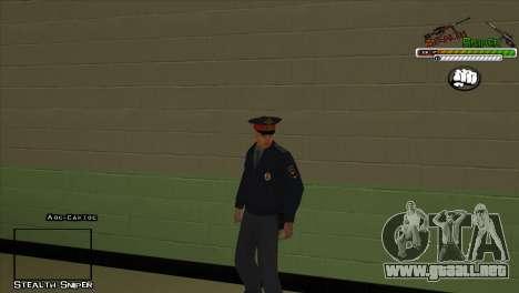 Pak SAPD pieles para GTA San Andreas sucesivamente de pantalla