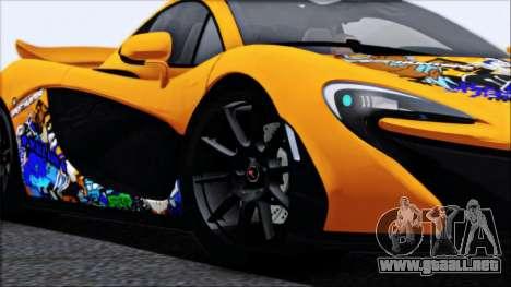 McLaren P1 2014 para las ruedas de GTA San Andreas