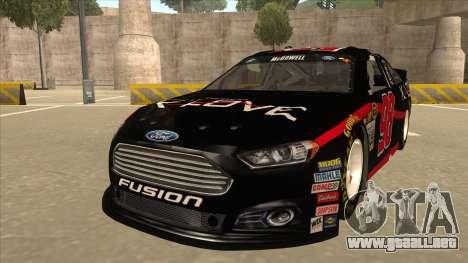 Ford Fusion NASCAR No. 98 K-LOVE para GTA San Andreas