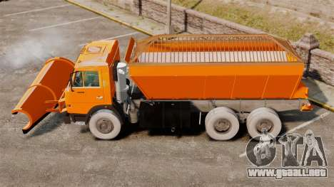 Soplador de nieve 53215 KAMAZ para GTA 4 left