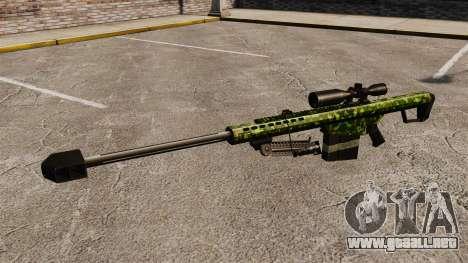 El v4 de rifle de francotirador Barrett M82 para GTA 4 tercera pantalla