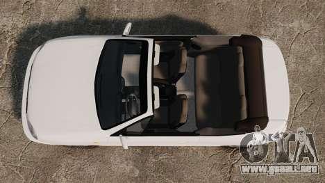 Daewoo Lanos 1997 Cabriolet Concept para GTA 4 visión correcta