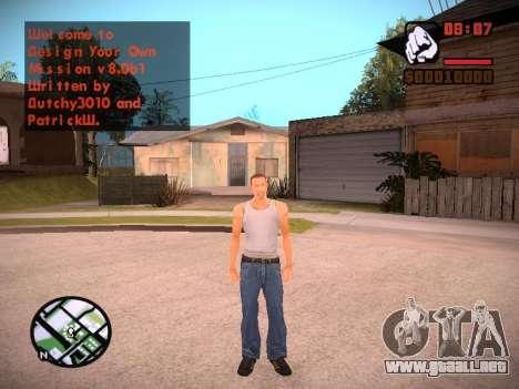 Nuevo menú y una nueva fuente para GTA San Andreas novena de pantalla