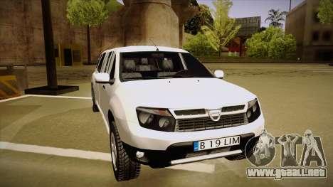 Dacia Duster Limuzina para GTA San Andreas left