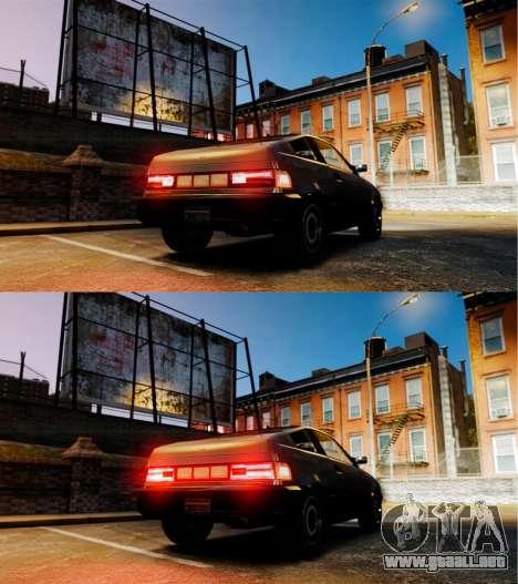 Blista nueva inversión de lámparas para GTA 4 Vista posterior izquierda