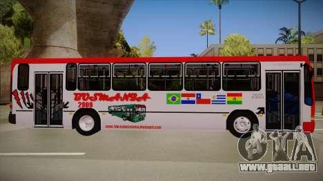 Busscar Urbanus SS Volvo B10 M Busmania para GTA San Andreas vista posterior izquierda