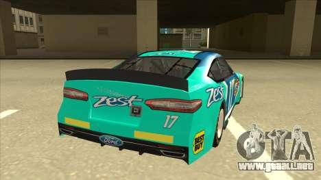 Ford Fusion NASCAR No. 17 Zest Nationwide para la visión correcta GTA San Andreas