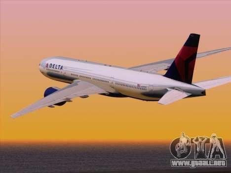 Boeing 777-200ER Delta Air Lines para vista lateral GTA San Andreas