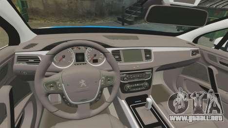 Peugeot 508 Polish Police [ELS] para GTA 4 vista interior