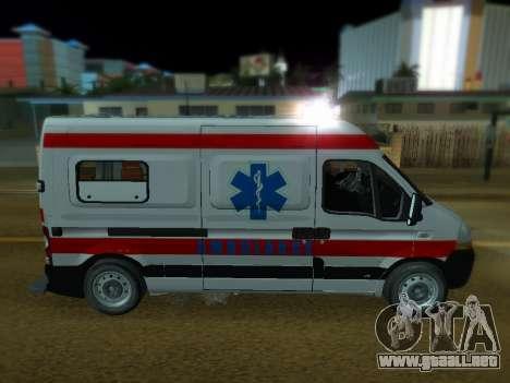Renault Master ambulancia Serbio para GTA San Andreas left