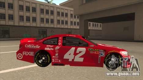 Chevrolet SS NASCAR No. 42 Clorox para GTA San Andreas vista posterior izquierda