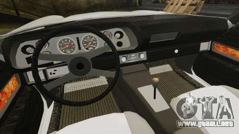 Chevrolet Camaro Z28 1970 para GTA 4 vista interior