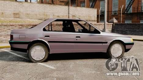 Peugeot 405 GLX para GTA 4 left