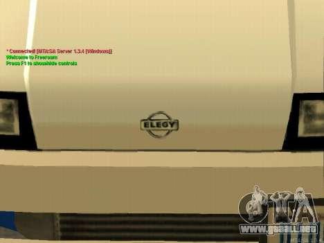 New Elegy para vista lateral GTA San Andreas