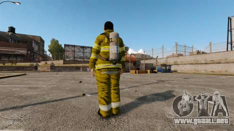 Amarillos uniformes para bomberos para GTA 4 tercera pantalla