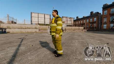 Amarillos uniformes para bomberos para GTA 4 segundos de pantalla