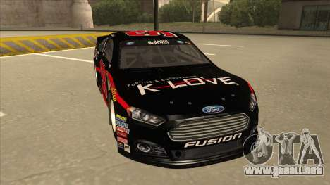 Ford Fusion NASCAR No. 98 K-LOVE para GTA San Andreas left