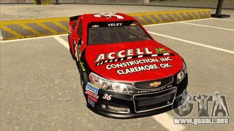 Chevrolet SS NASCAR No. 36 Accell para GTA San Andreas left