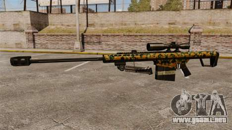 El francotirador Barrett M82 rifle v13 para GTA 4 tercera pantalla