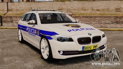 BMW M5 Touring Croatian Police [ELS] para GTA 4