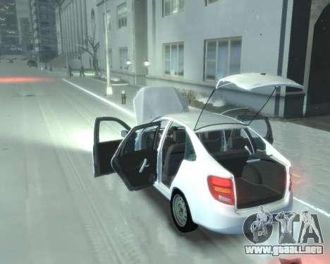 Lada Granta Hatch - VAZ 2191 para GTA 4 visión correcta