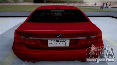 BMW 750 Li Vip Style para GTA San Andreas left