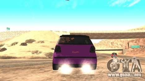 Volkswagen German Polo para GTA San Andreas vista posterior izquierda