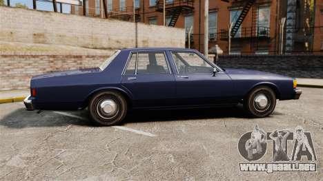 Chevrolet Caprice 1986 para GTA 4 left