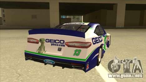 Ford Fusion NASCAR No. 13 GEICO para la visión correcta GTA San Andreas