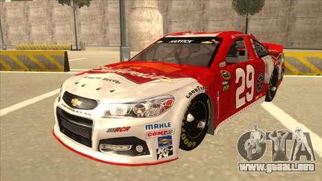 Chevrolet SS NASCAR No. 29 Budweiser para GTA San Andreas