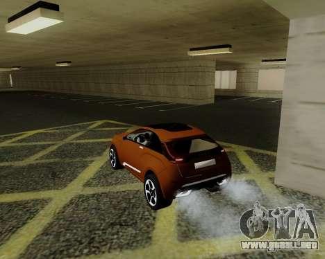 Lada X-RAY para GTA San Andreas vista posterior izquierda
