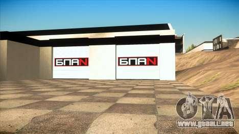 El garaje en Doherty BPAN v1.1 para GTA San Andreas segunda pantalla
