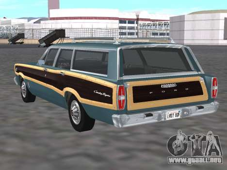 Ford Country Squire 1966 para GTA San Andreas vista posterior izquierda