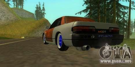 Nissan Silvia S13 MGDT para GTA San Andreas left