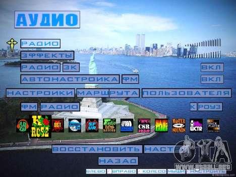 Nuevo menú y una nueva fuente para GTA San Andreas sexta pantalla