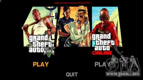 Menú y arranque imágenes al estilo de GTA V para GTA 4 tercera pantalla