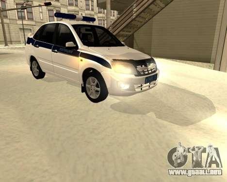 Lada Granta 2190 policía v 2.0 para GTA San Andreas left