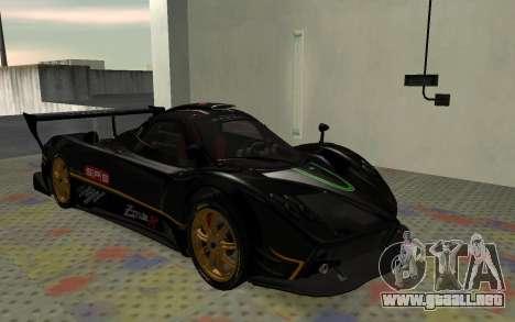 Pagani Zonda R SPS para GTA San Andreas left