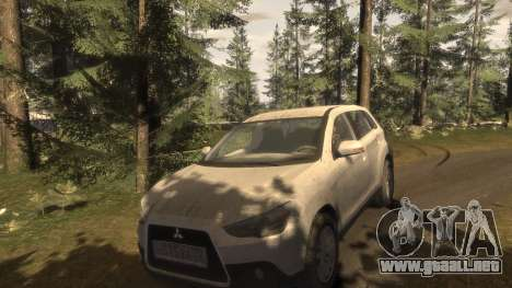 Mitsubishi ASX 2010 para GTA 4 vista superior