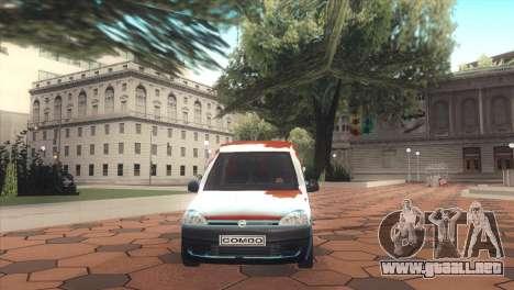 Opel Combo para la visión correcta GTA San Andreas